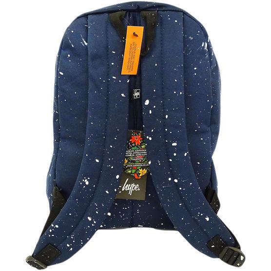 Hype Backpack Bag 'Splatter' Navy with White Thumbnail 2