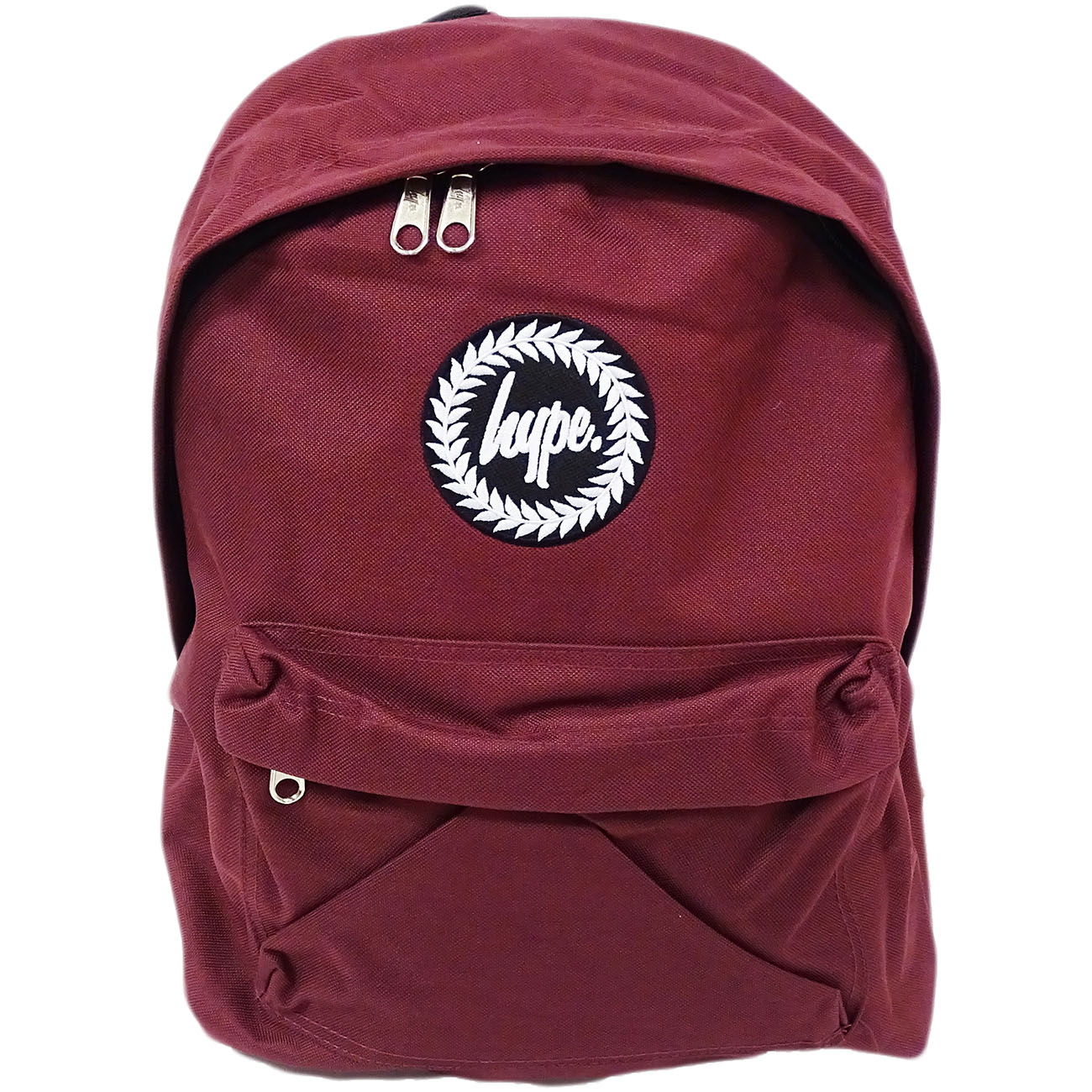 Hype Backpack Plain Burgundy Bag