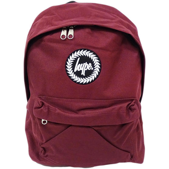 Hype Backpack Plain Burgundy Bag Thumbnail 1