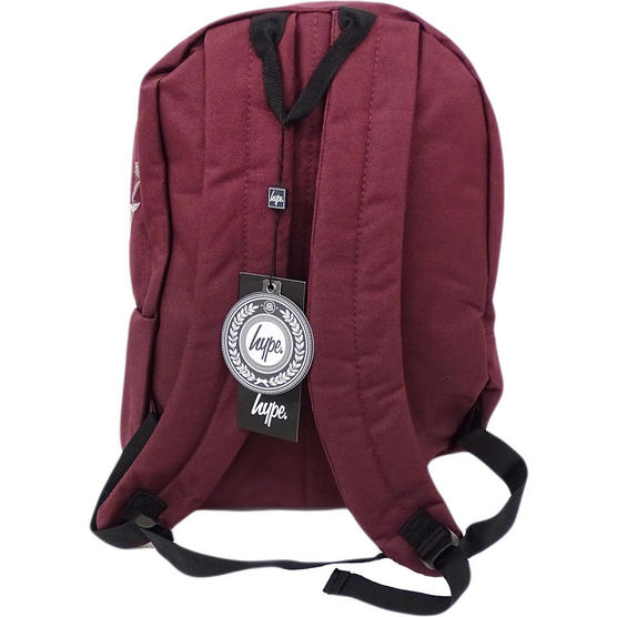 Hype Backpack Plain Burgundy Bag Thumbnail 2