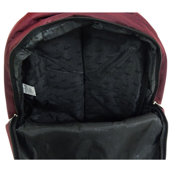 Hype Backpack Plain Burgundy Bag Thumbnail 3