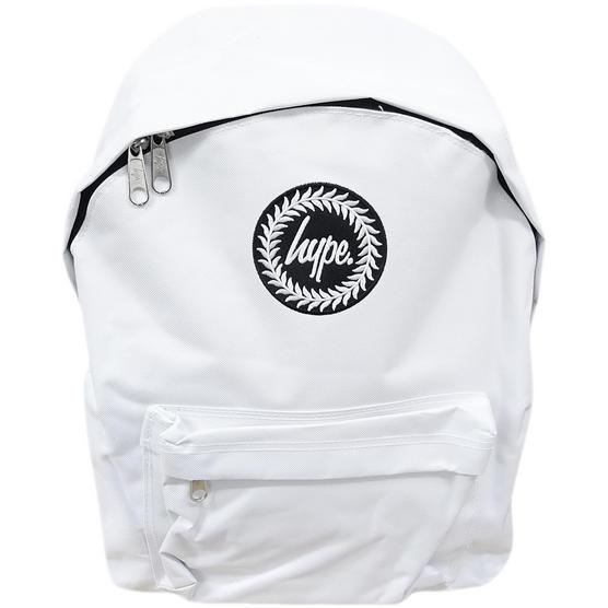 Hype Backpack Plain White Bag Thumbnail 1