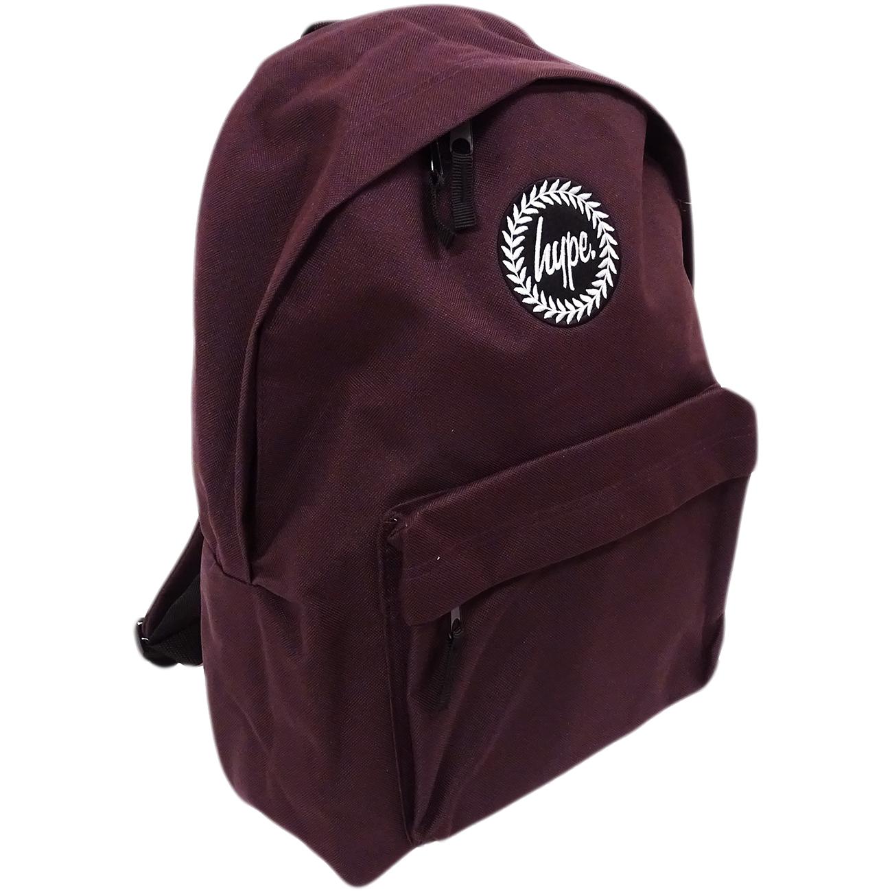 Just Hype Backpack Plain Oxblood Bag