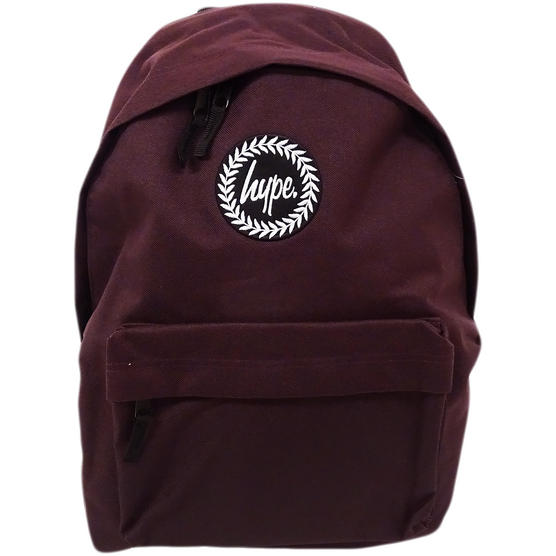 Just Hype Backpack Plain Oxblood Bag Thumbnail 2