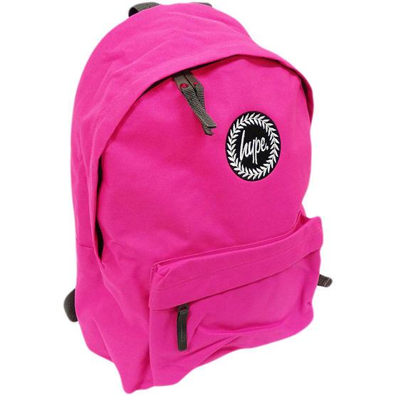 Just Hype Backpack Plain Fuchsia Pink Bag Thumbnail 1