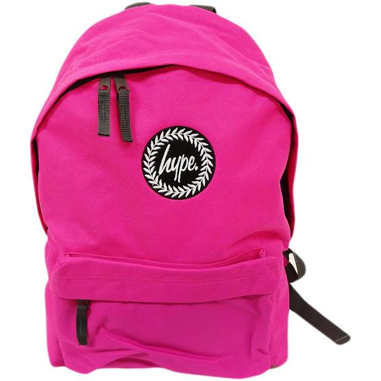 Just Hype Backpack Plain Fuchsia Pink Bag Thumbnail 2