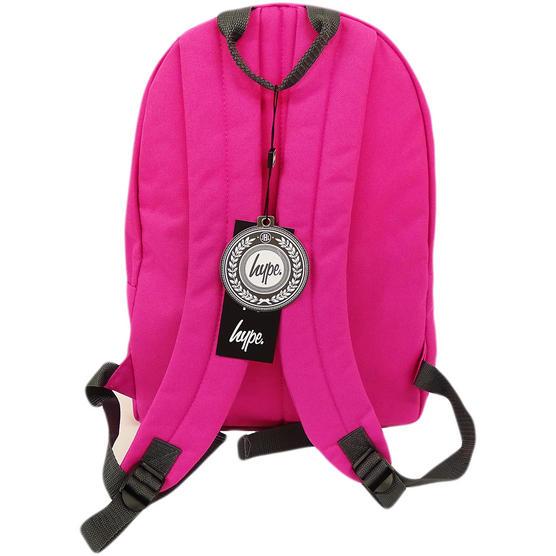 Just Hype Backpack Plain Fuchsia Pink Bag Thumbnail 3