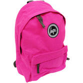 Just Hype Backpack Plain Fuchsia Pink Bag