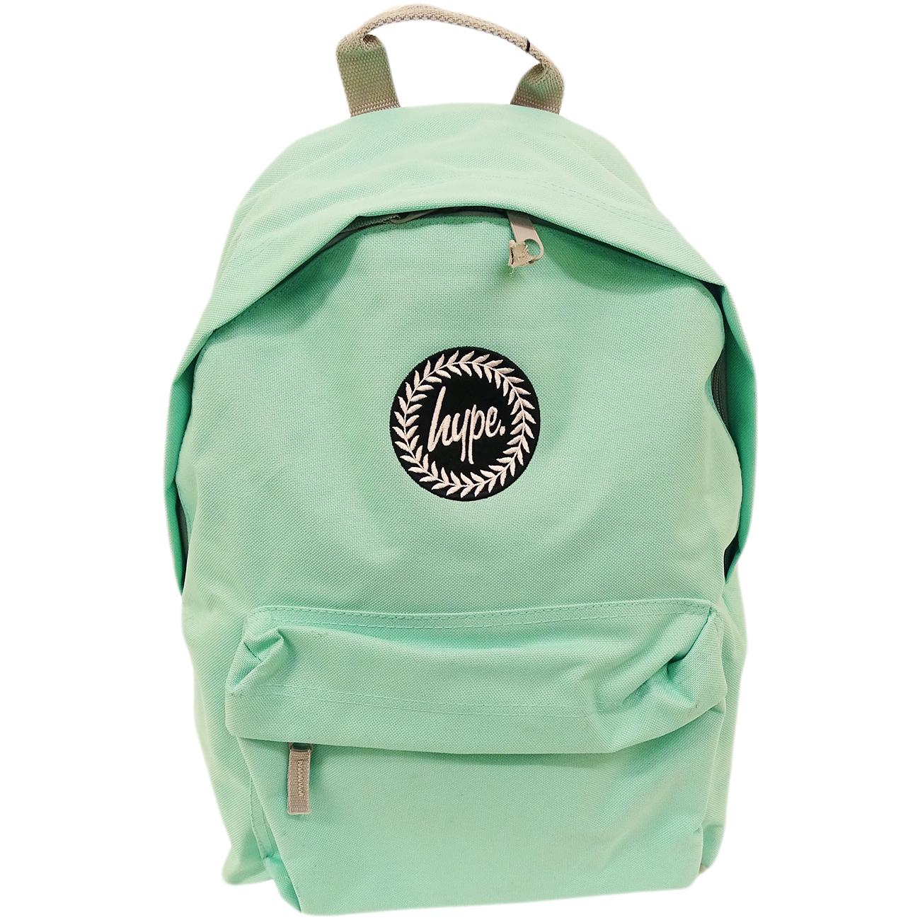 Hype Backpack Plain Mint Bag