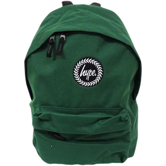 Just Hype Backpack Plain Forest Green Bag Thumbnail 1