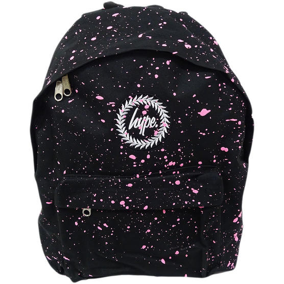 Hype Backpack Bag Black and Pink Speckled Thumbnail 1