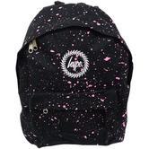 Hype Backpack Bag Black and Pink Speckled