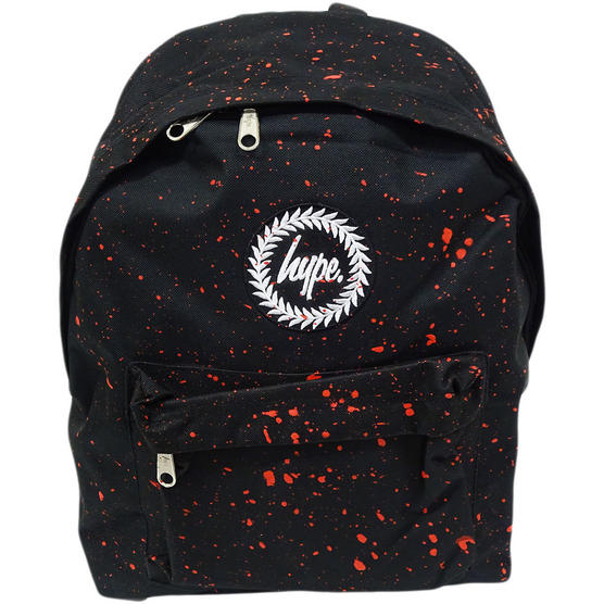 Hype Backpack Bag Black and Red Speckled Thumbnail 1