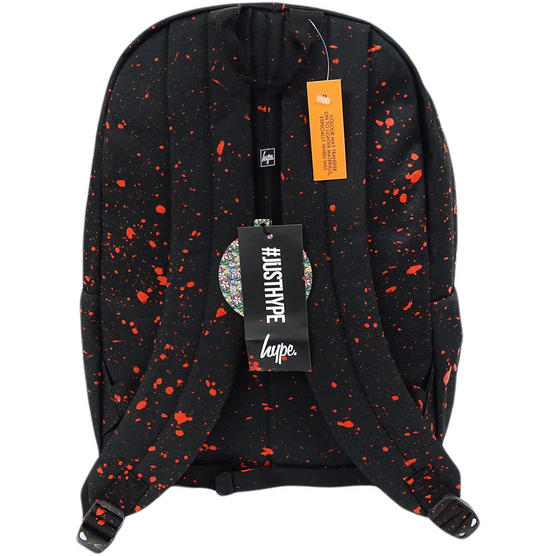Hype Backpack Bag Black and Red Speckled Thumbnail 2