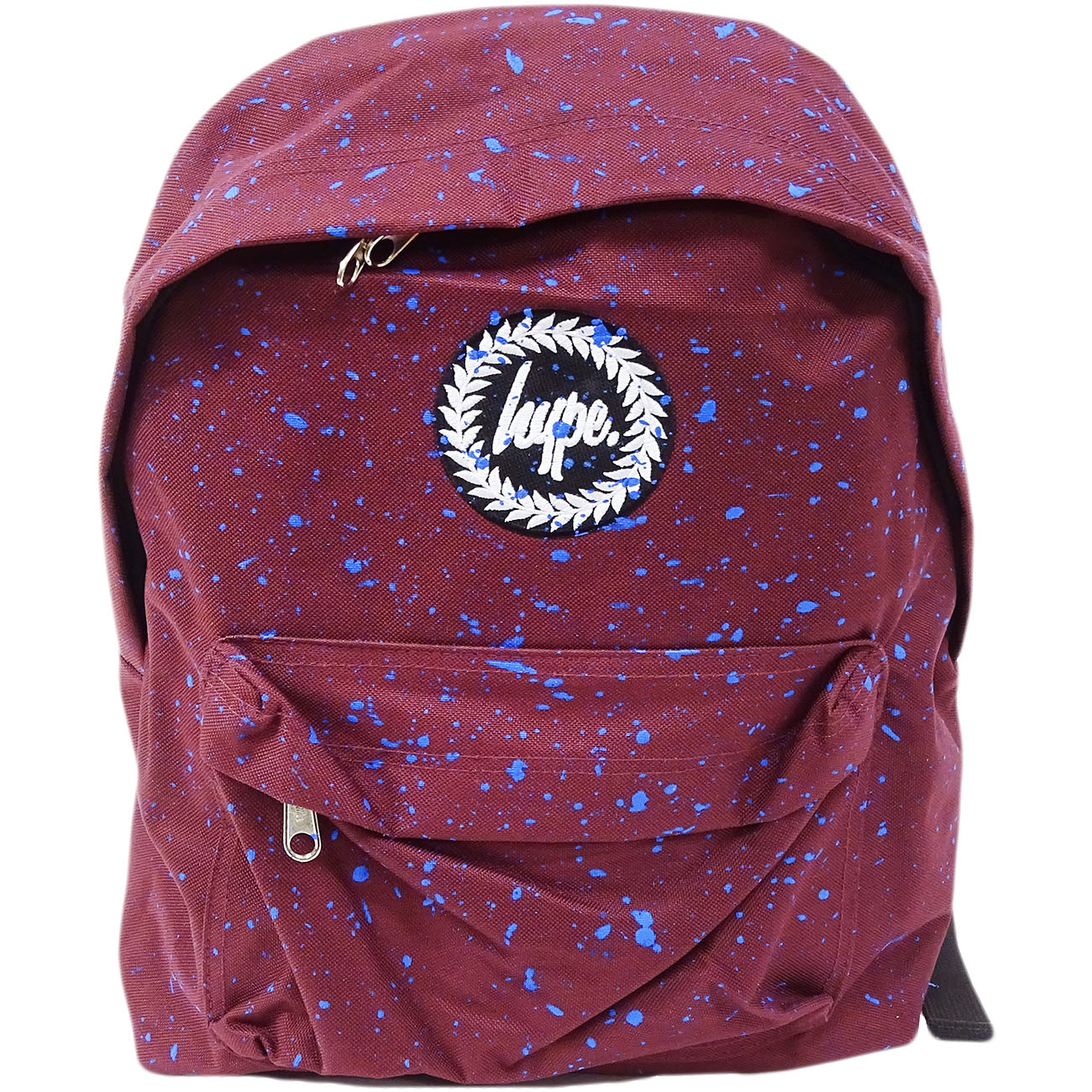 Hype Backpack Bag Burgundy and Blue Speckled