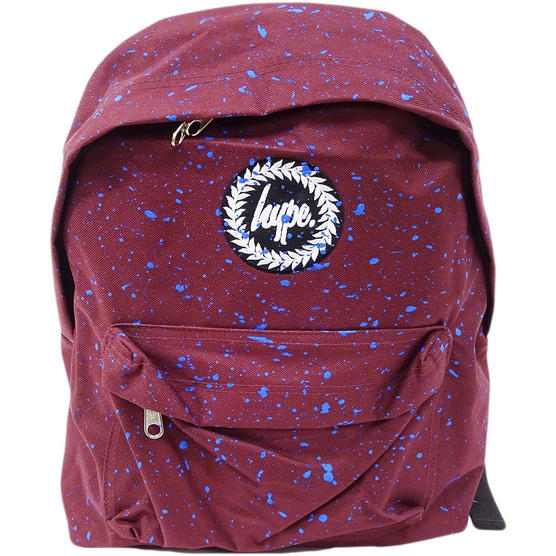 Hype Backpack Bag Burgundy and Blue Speckled Thumbnail 1