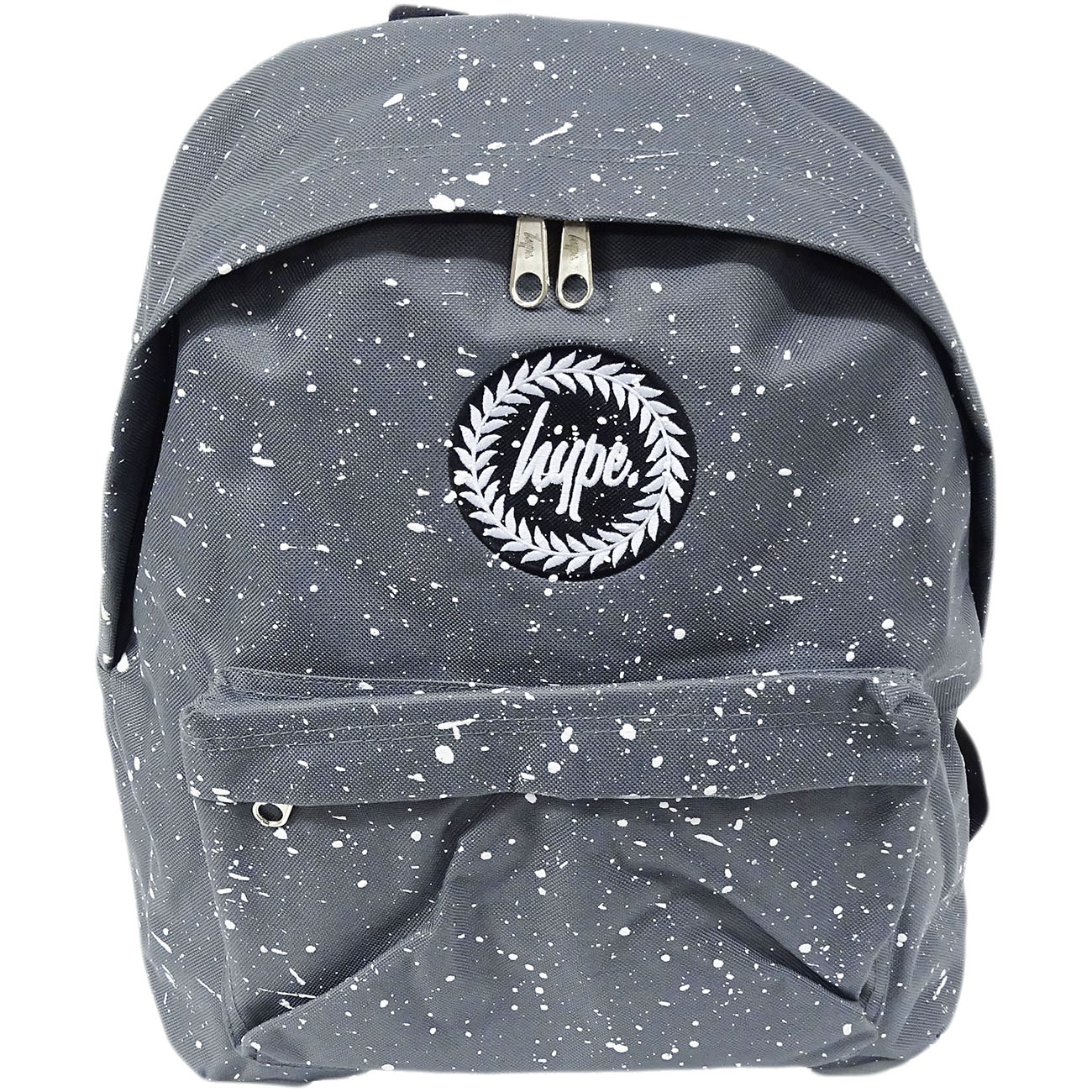 Hype Backpack Bag Grey and White Speckled