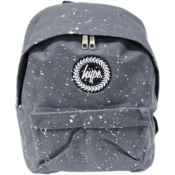 Hype Backpack Bag Grey and White Speckled Thumbnail 1