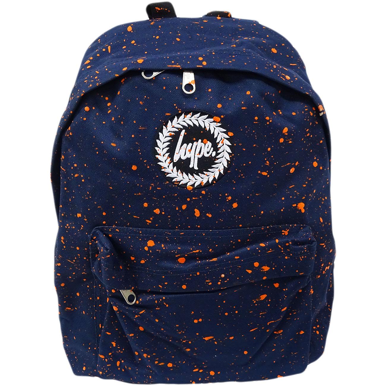 Hype Backpack Bag Navy and Orange Speckled