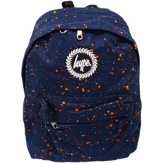 Hype Backpack Bag Navy and Orange Speckled Thumbnail 1