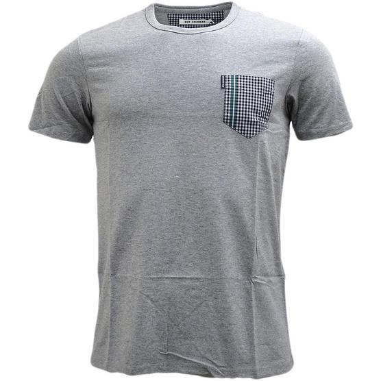 Mens Ben Sherman T Shirt Top Gingham Pocket Thumbnail 3