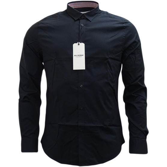 Ben Sherman Plain Long Sleeve Smart Shirt Soho Slim Fit Thumbnail 2