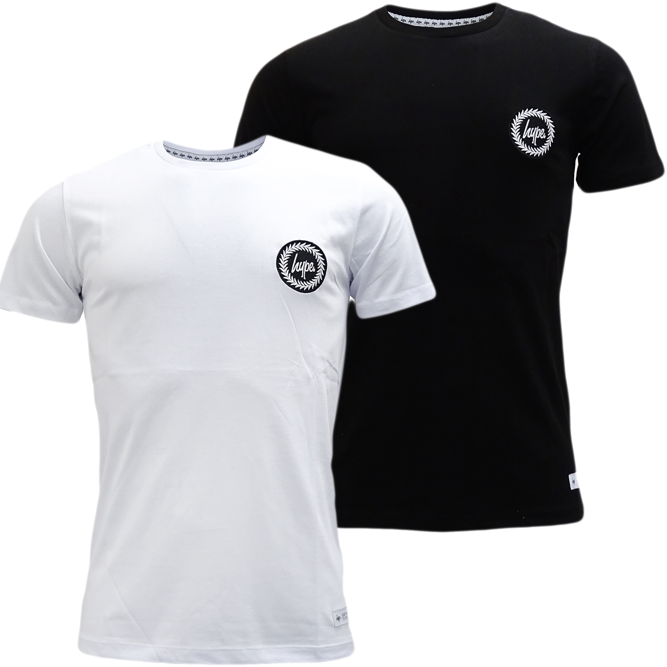 Just hype plain t shirt with crest hype logo daily deals for Levis plain t shirts