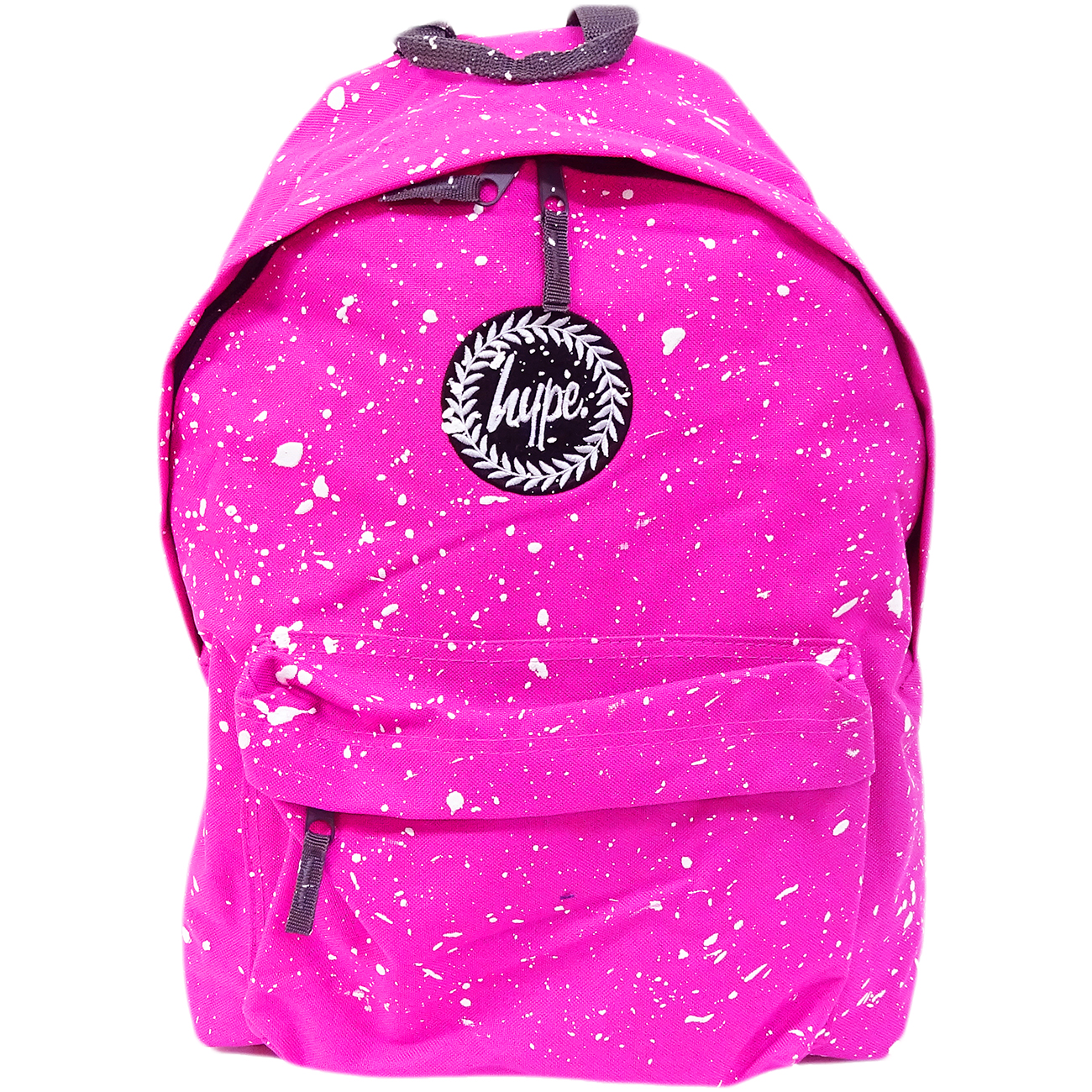 Hype Backpack Speckled Fuscia with White