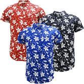 Mens Soul Star Flower Shirt - Lightweight Floral Shirts - Tiki