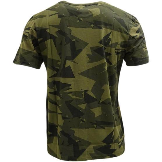 Criminal Damage Camouflage Khaki T Shirt - Army Thumbnail 2