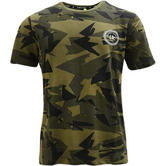 Criminal Damage Camouflage Khaki T Shirt - Army