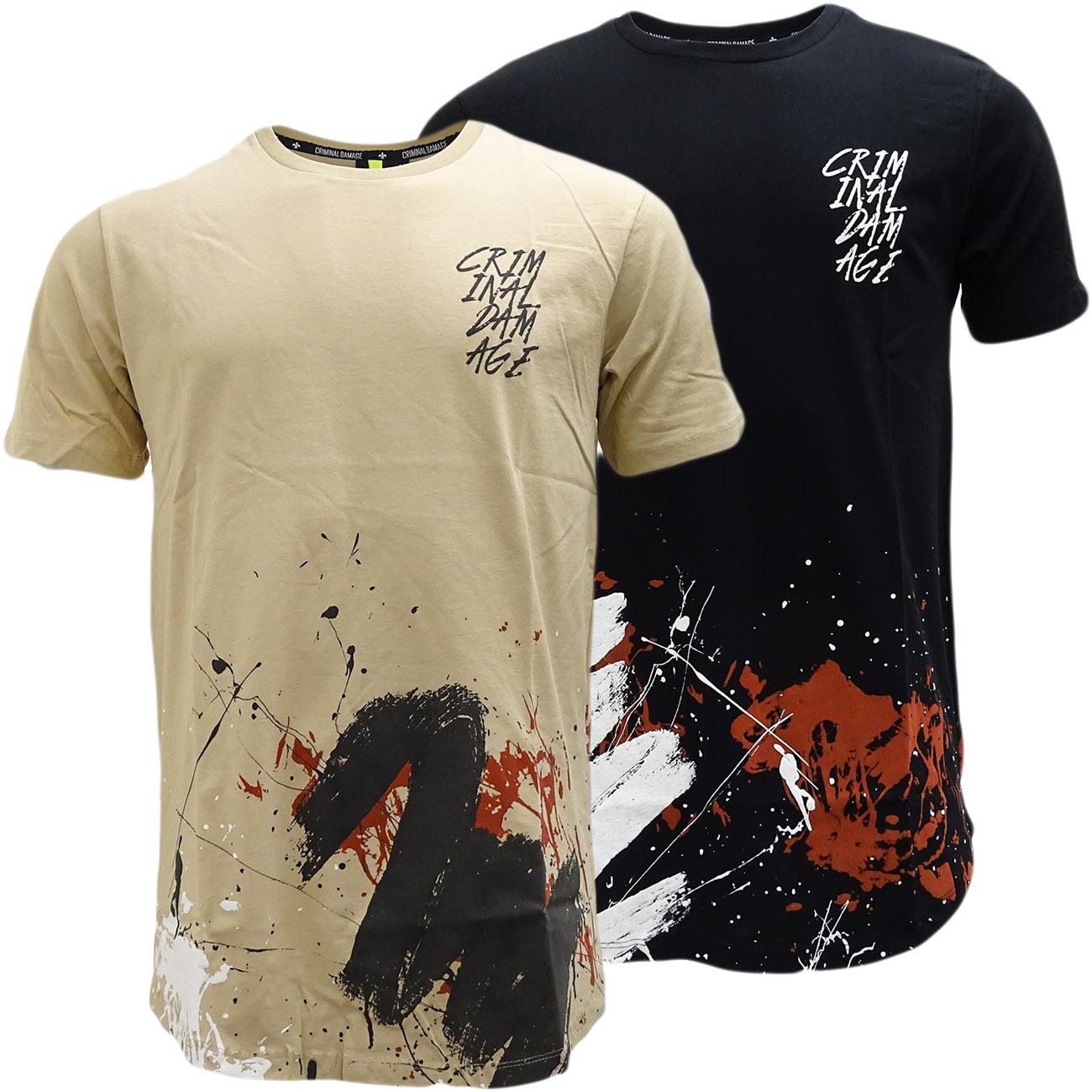 Criminal Damage Paint Splash Graffiti T Shirt - Décor