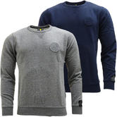 Mens Replay Sweatshirt Jumper / Crew Neck Casual Soft Cotton Top