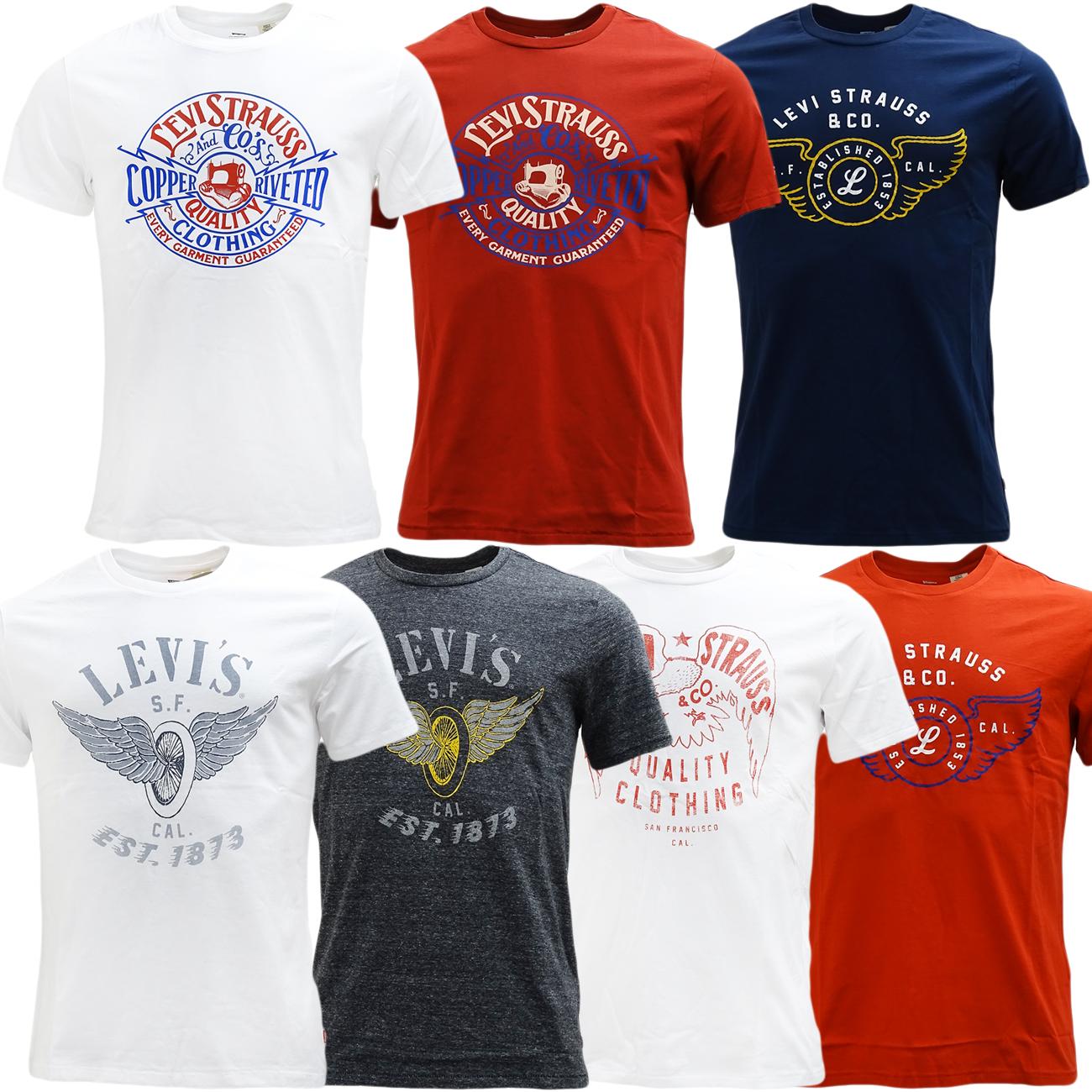 Levi t shirts mens original levi strauss short sleeve t for Levis plain t shirts