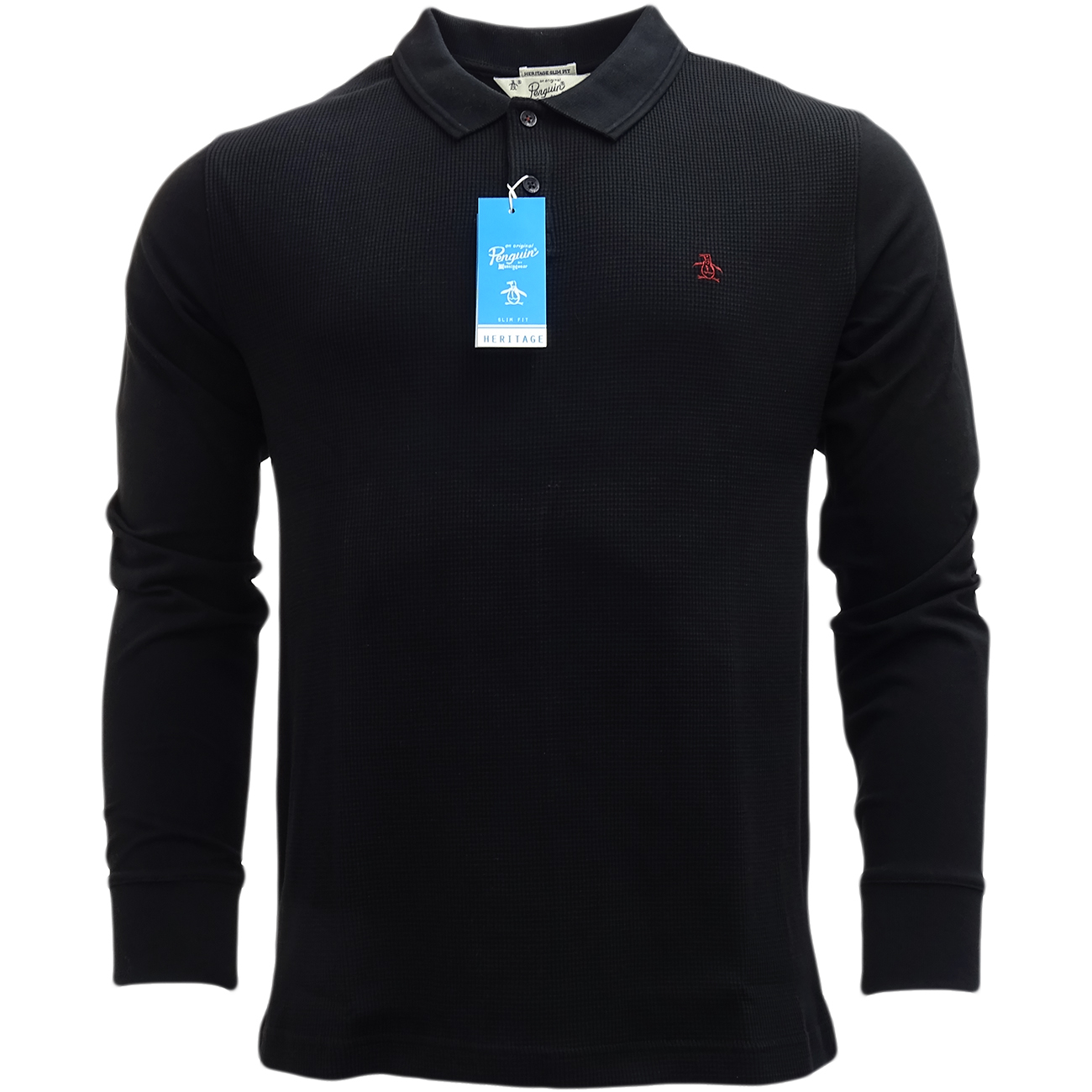 Details about Original Penguin Long Sleeve Polo Shirt 6317