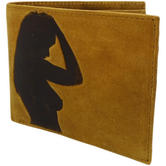 Mustard Leather Wallet - Card / Note Holder Sofia