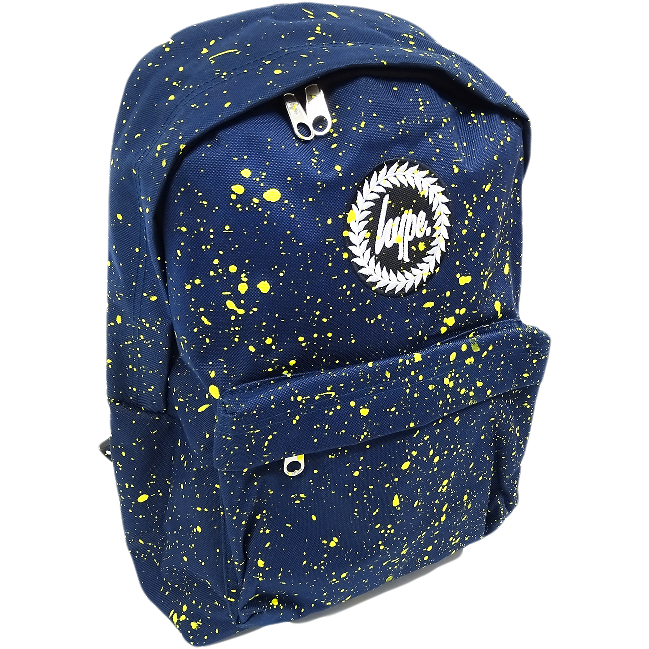 Hype Backpack Splatter Navy with Yellow Bag