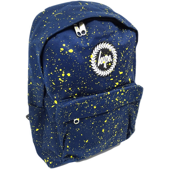 Hype Backpack Splatter Navy with Yellow Bag Thumbnail 1