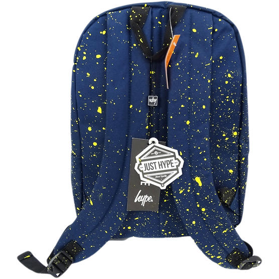 Hype Backpack Splatter Navy with Yellow Bag Thumbnail 2