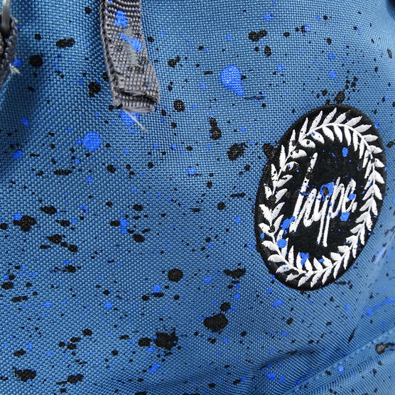 Hype Backpack Bag - Splatter Airforce Blue with Black and Navy Thumbnail 3