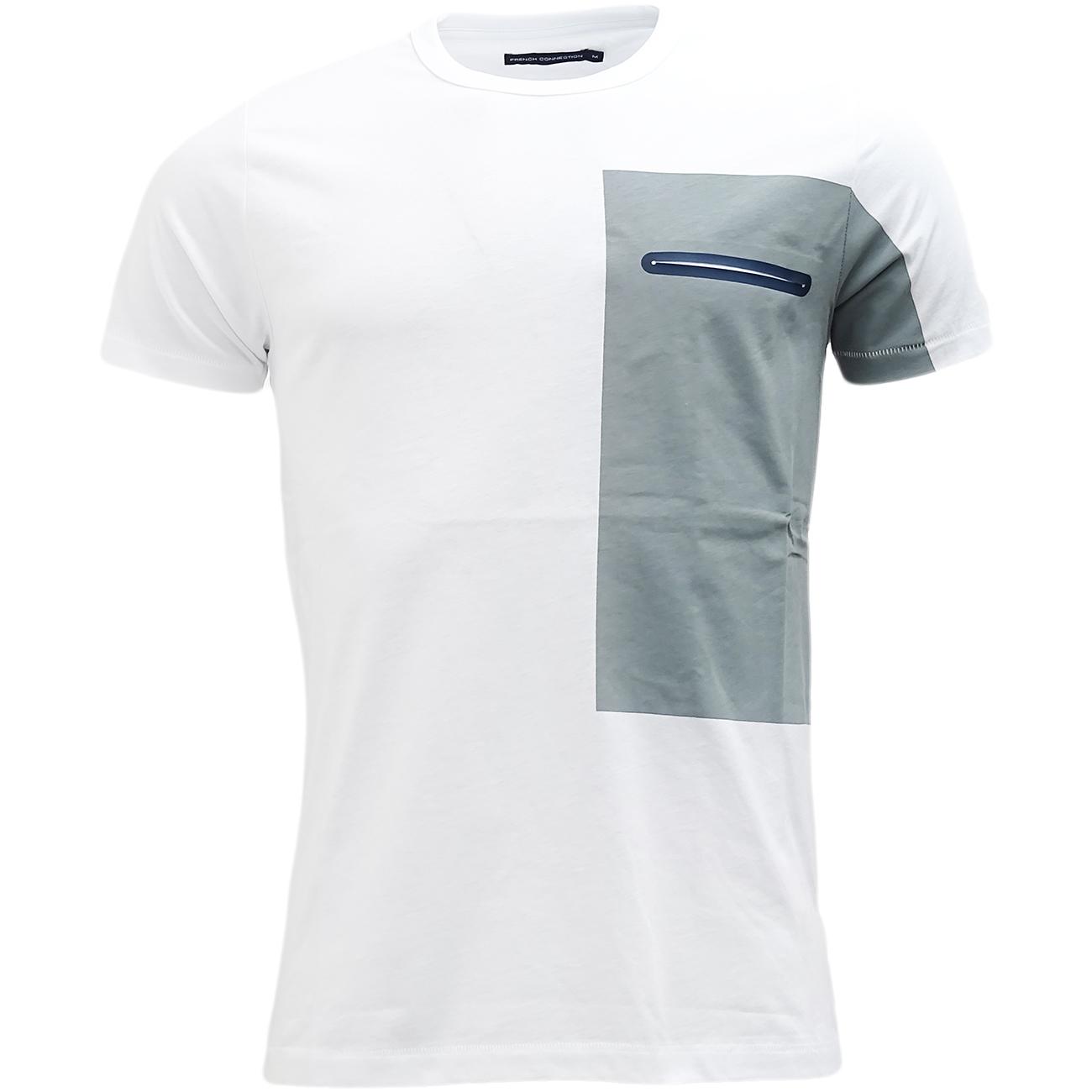 FCUK White Slim Fit T Shirt - 56GBA