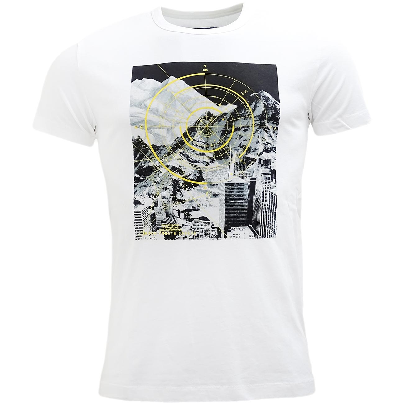 Fcuk White Slim Fit T-Shirt - 56GBM