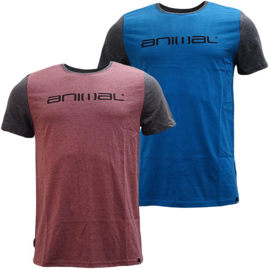 Animal T-Shirt with Contrast Back and Arms - J012 Thumbnail 1