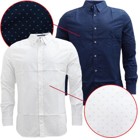 FCUK Long Sleeve Polka Dot Shirt - 52GCI Thumbnail 1