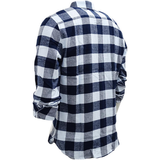 FCUK Long Sleeve Navy Blue Check Flannel Shirt - 52GBZ Thumbnail 2