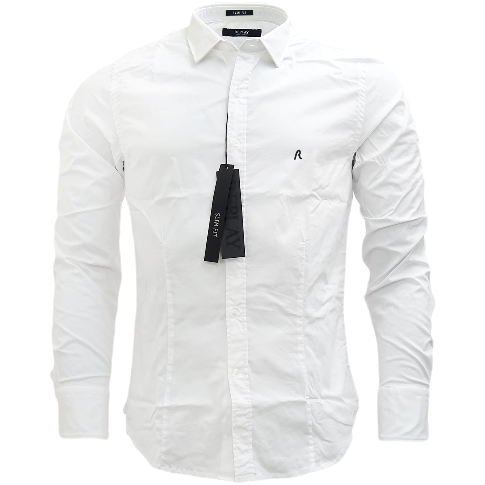 M4941 M4941 Shirt Plain XXL M L Replay XL Slim Slim Fit S eBay Long Sleeve xwRnnXaqUY