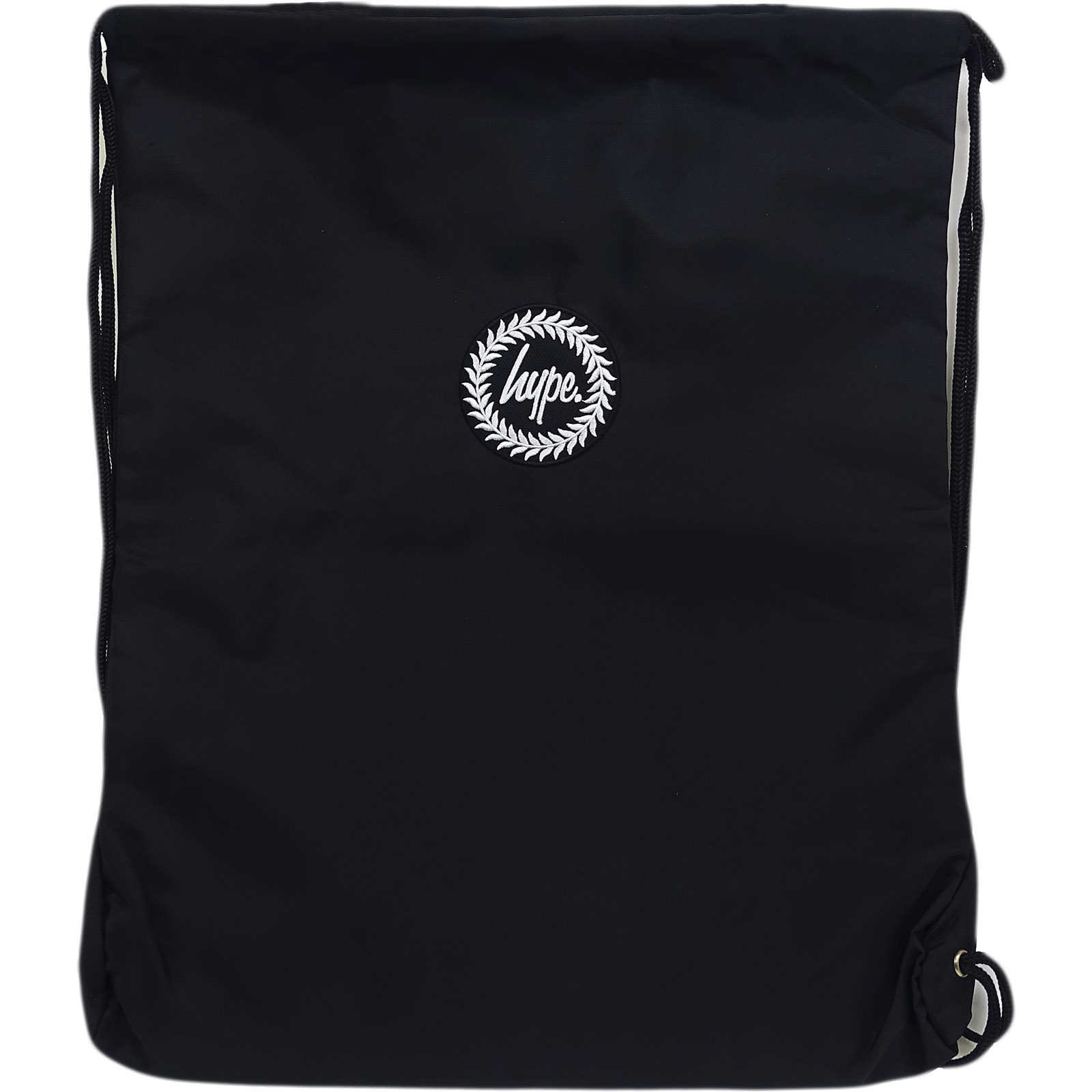 Just Hype Drawstring Bags - Plain Black Crest 5056120603480  b1516d452c95b