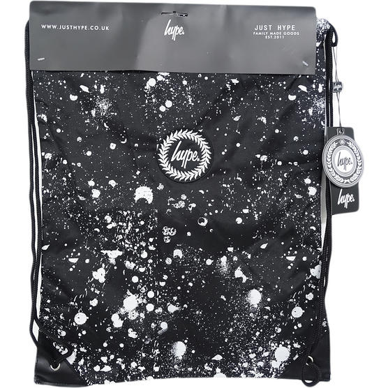 Just Hype Drawstring Bags - Speckle Crest Black Thumbnail 1