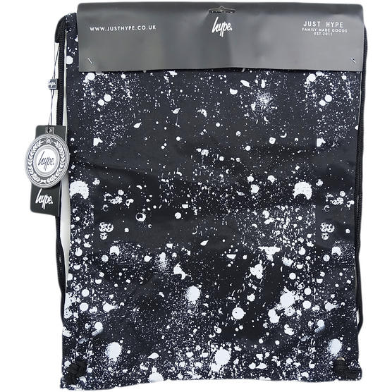 Just Hype Drawstring Bags - Speckle Crest Black Thumbnail 2