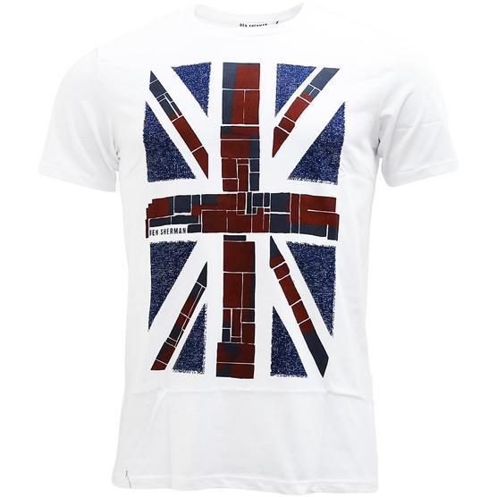 Ben Sherman Union Jack T-Shirt MB13082 White Thumbnail 1
